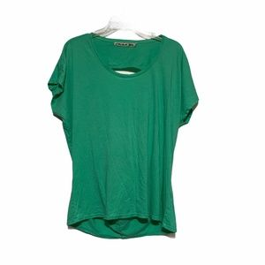 Michael Stars Open Back Tee in Green OS